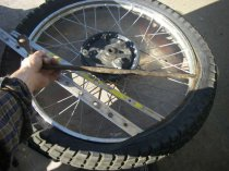 Repairing motorcycle tires