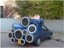 Araba ses hoparlörler yer nerede?