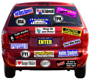 Be practical with custom bumper, car and vinyl stickers