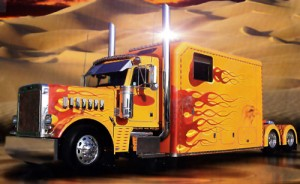 Customize a big rig with decals