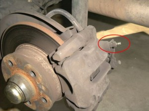 What problems occur when bleeding the brake lines