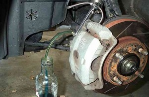 What you need to do to remove the air from the braking system