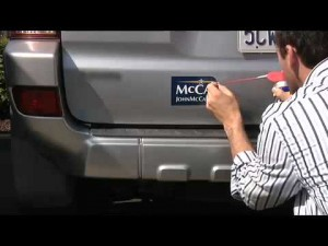Learn to take off the sticker from your car