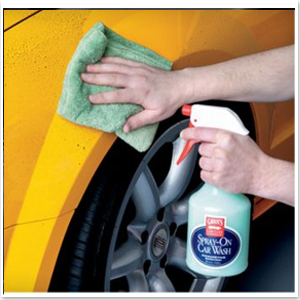 Learn to perform a waterless car wash